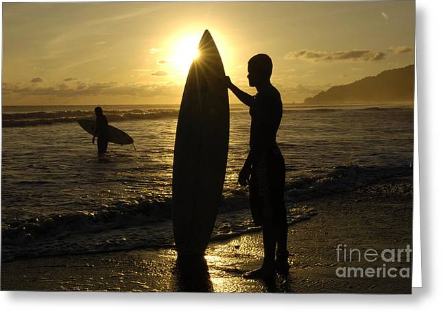 Photos Fitness Greeting Cards - Surfers Costa Rica Greeting Card by Bob Christopher