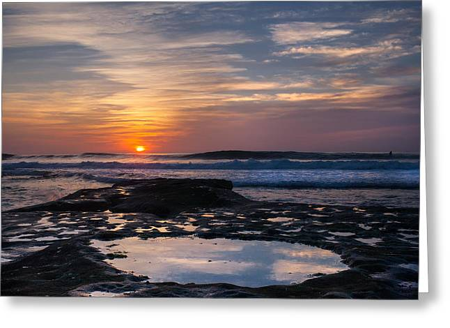 La Jolla Surfers Greeting Cards - Surfers Paradise Greeting Card by Peter Tellone
