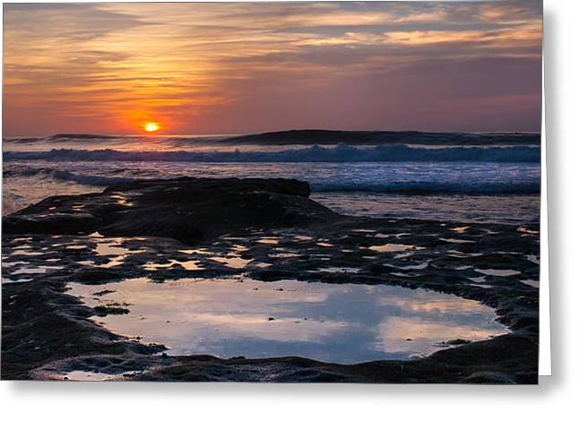 La Jolla Surfers Greeting Cards - Surfers Paradise Wide Screen Greeting Card by Peter Tellone