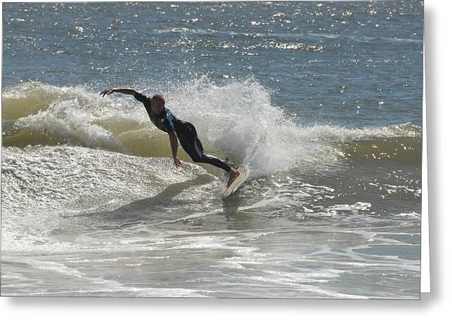 Surfing Photos Greeting Cards - Surfing 426 Greeting Card by Joyce StJames
