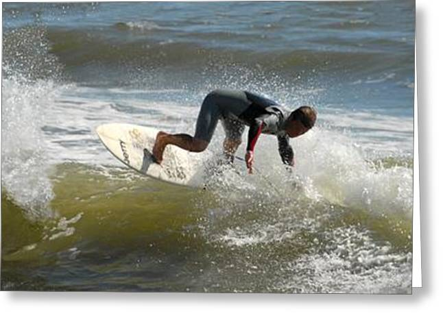 Surfer Art Greeting Cards - Surfing 430 Greeting Card by Joyce StJames