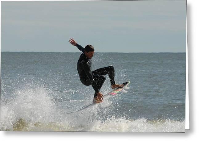 Ocean Art Photos Greeting Cards - Surfing 433 Greeting Card by Joyce StJames