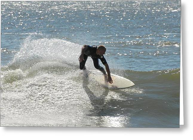 Cut-outs Greeting Cards - Surfing 445 Greeting Card by Joyce StJames
