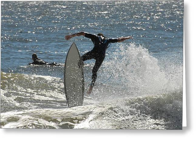 Surfing Photos Greeting Cards - Surfing 447 Greeting Card by Joyce StJames