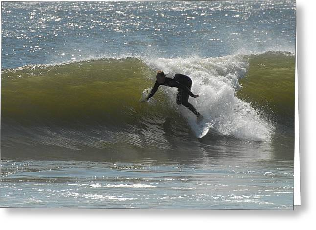 Surfing Photos Greeting Cards - Surfing 457 Greeting Card by Joyce StJames