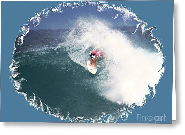Surfing Photos Greeting Cards - Surfing Art Greeting Card by Scott Cameron