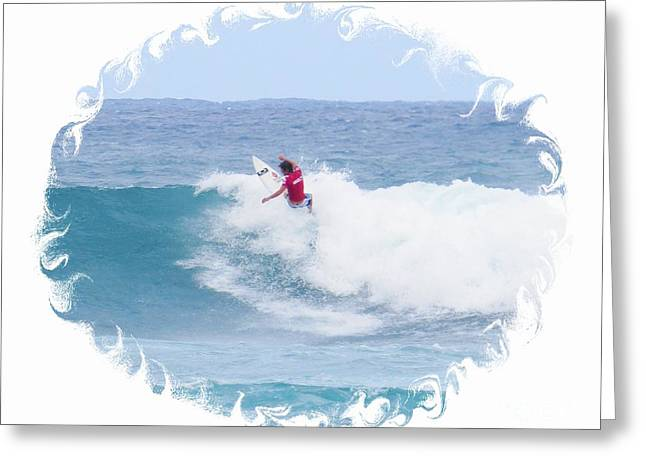 Surfing Photos Greeting Cards - Surfing Artist Greeting Card by Scott Cameron