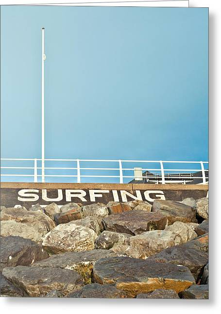 Reserve Greeting Cards - Surfing beach Greeting Card by Tom Gowanlock