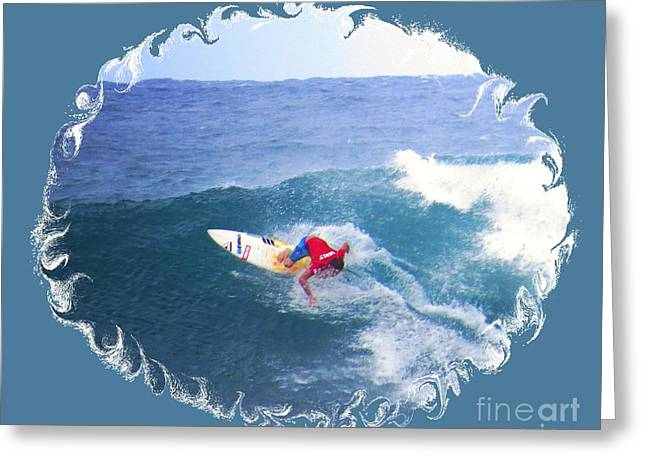 Surfing Photos Greeting Cards - Surfing Hawaii Waves Greeting Card by Scott Cameron
