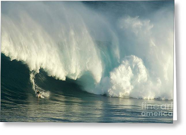 Courage Greeting Cards - Surfing Jaws 1 Greeting Card by Bob Christopher