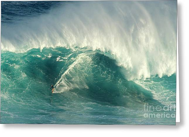 Adrenalin Greeting Cards - Surfing Jaws 2 Greeting Card by Bob Christopher