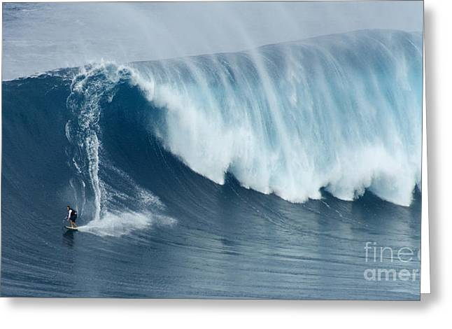 Surfing Photos Greeting Cards - Surfing Jaws 5 Greeting Card by Bob Christopher