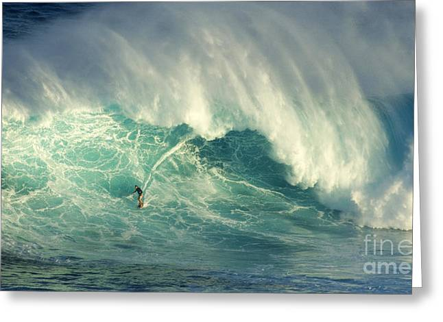 Big Surf Greeting Cards - Surfing Jaws Hang Loose Brother Greeting Card by Bob Christopher
