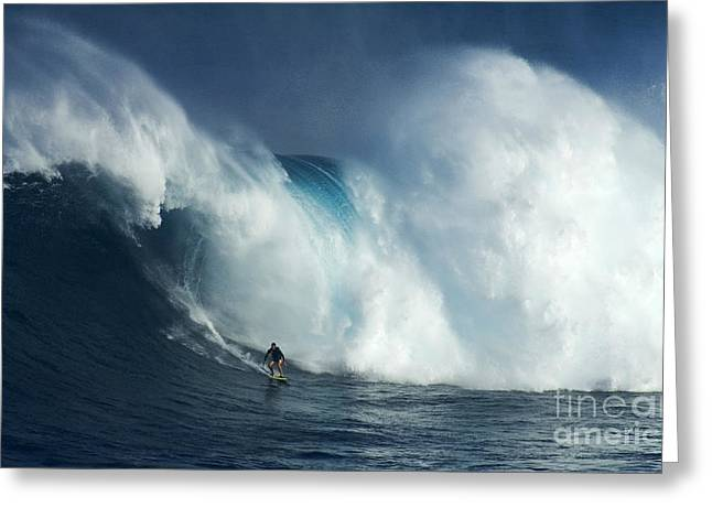 Canadian Sports Art Greeting Cards - Surfing Jaws Surfing Giants Greeting Card by Bob Christopher
