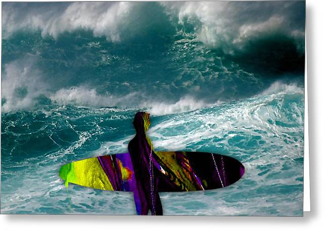 Surfboard Greeting Cards - Surfing Greeting Card by Marvin Blaine