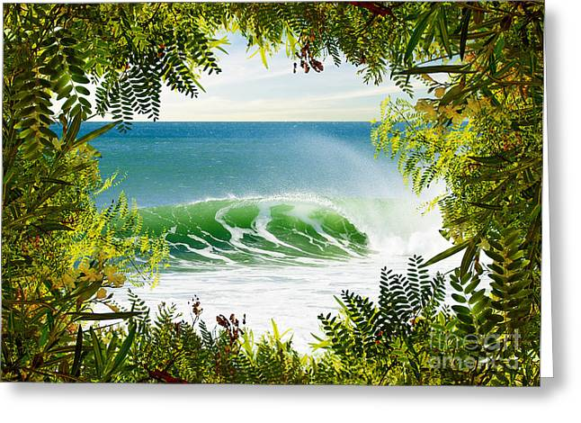Border Photographs Greeting Cards - Surfing Paradise Greeting Card by Carlos Caetano