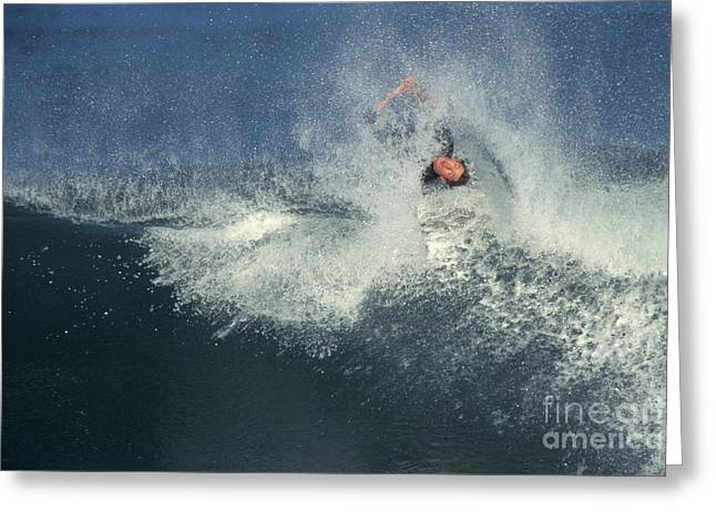 Wipe Out Greeting Cards - Surfing Greeting Card by Ron Sanford