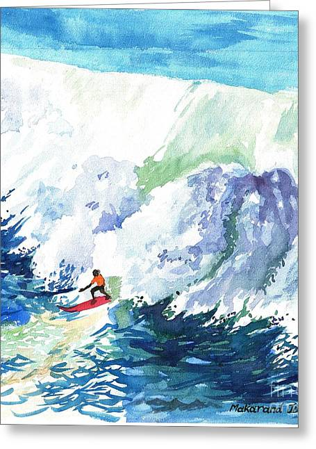 Leasure Greeting Cards - Surfing time Greeting Card by Makarand Joshi