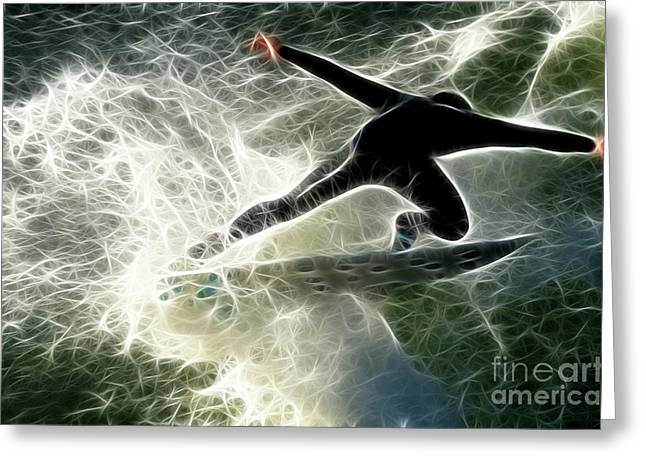 Empowerment Greeting Cards - Surfing USA Greeting Card by Bob Christopher