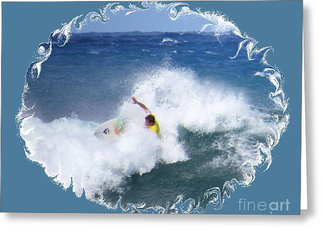 Surfing Photos Greeting Cards - Surfing Waves in Hawaii Greeting Card by Scott Cameron