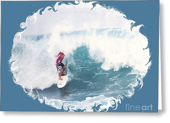 Surfing Photos Greeting Cards - Surfing Waves Greeting Card by Scott Cameron