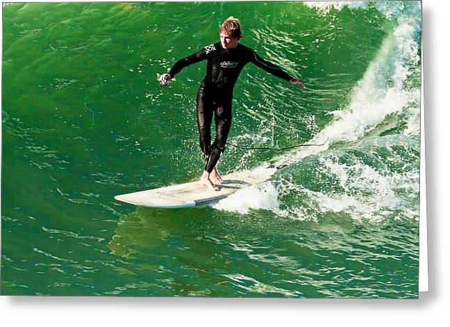 Go Pro Greeting Cards - Surfing with Go Pro Greeting Card by Ben Graham