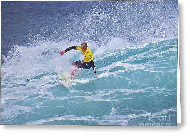 Surfing Photos Greeting Cards - Surfing with Style Greeting Card by Scott Cameron