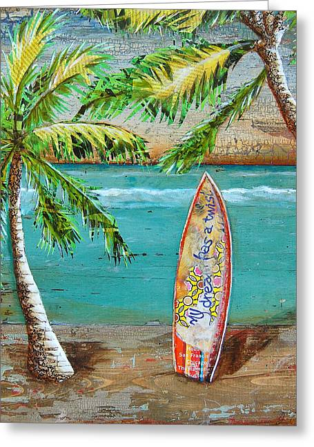 Hawaii Mixed Media Greeting Cards - Surfs Up Greeting Card by Danny Phillips