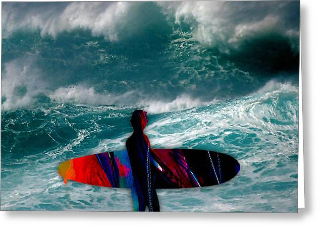 Surfs Up Greeting Card by Marvin Blaine