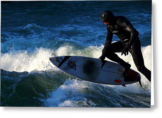 Exciting Surf Greeting Cards - Surfs Up Greeting Card by Mountain Dreams
