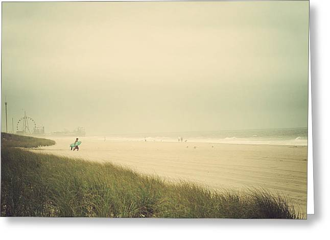 Surfer Print Greeting Cards - Surfs Up Seaside Park New Jersey Greeting Card by Terry DeLuco