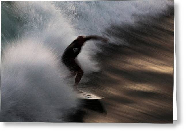 Surfing Art Greeting Cards - Surge Greeting Card by John Daly