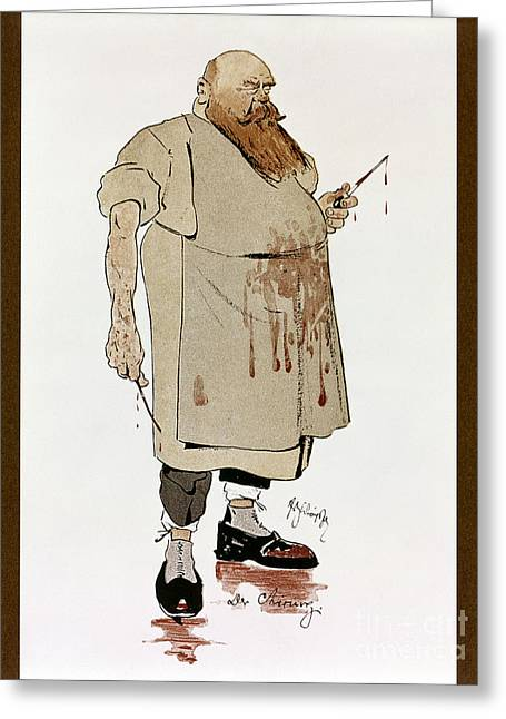 Apron Greeting Cards - Surgeon: Caricature, 1906 Greeting Card by Granger