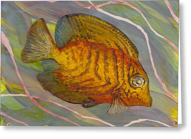 Surgeonfish Greeting Card by Anna Skaradzinska