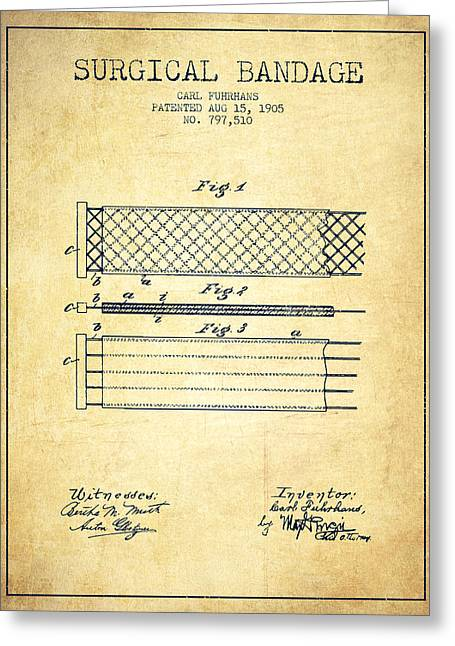 Surgical Bandage Patent From 1905- Vintage Greeting Card by Aged Pixel