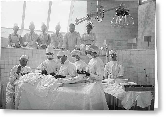 Surgical Lesson Greeting Card by Library Of Congress