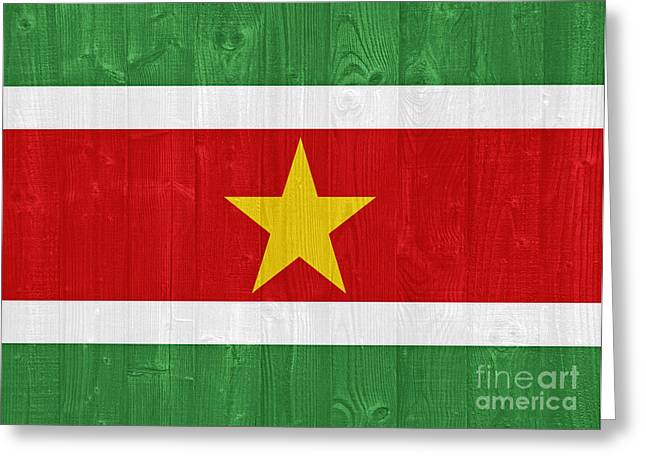 Suriname Flag Greeting Card by Luis Alvarenga