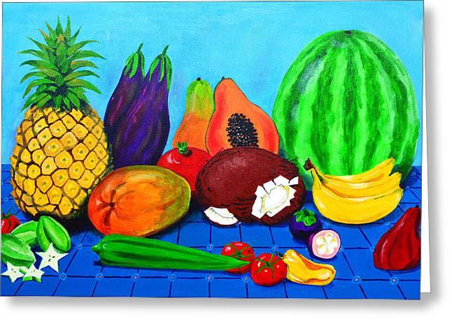 Surinamese Fruit Greeting Card by Lida Bruinen