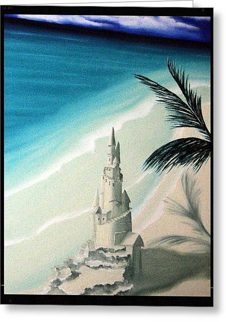 Sand Castles Greeting Cards - Surprise Blessing Greeting Card by Dianna Lewis