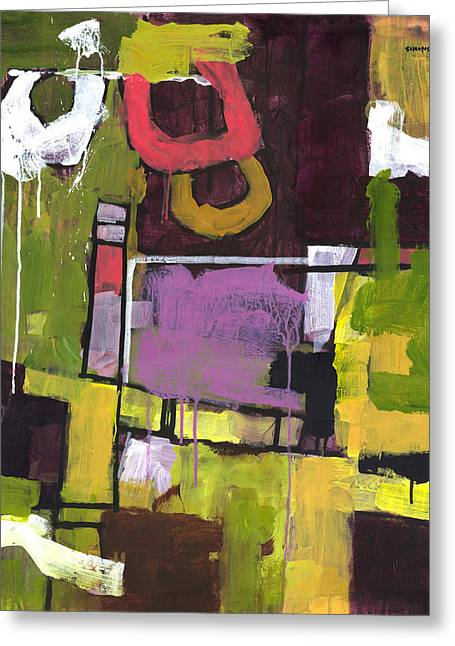 Abstract Expressionist Greeting Cards - Surprise Garden Greeting Card by Douglas Simonson