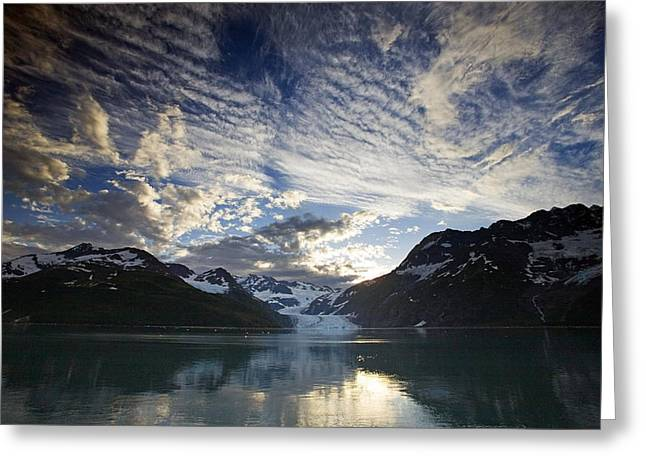 Surprise Greeting Cards - Surprise Glacier At Sunset Harriman Greeting Card by Jim Kohl