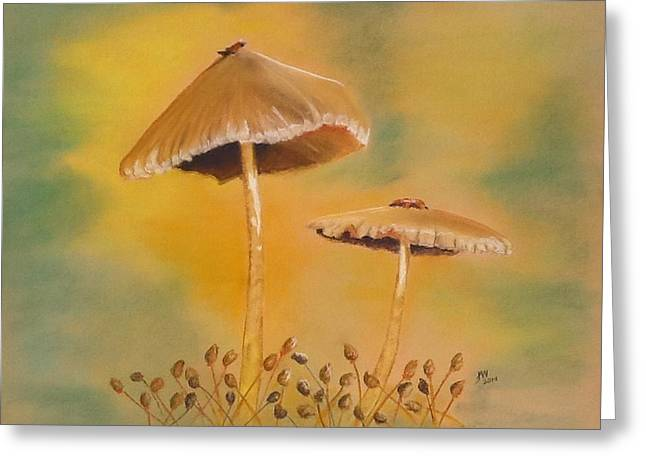 Forest Floor Pastels Greeting Cards - Surprise Greeting Card by Janice Curry