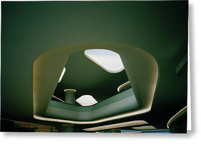 Green Surreal Geometry Greeting Cards - Surreal Beauty Greeting Card by Shaun Higson