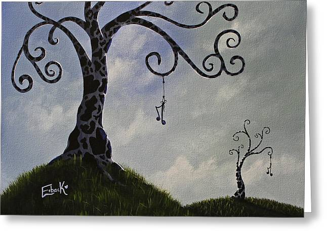 Surreal Dreamscape Painting Greeting Card by Shawna Erback