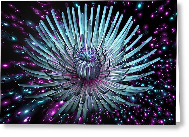 Louis Ferreira Art Greeting Cards - Surreal Flower  Greeting Card by Louis Ferreira