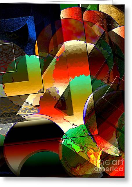 Abstract Style Greeting Cards - Transparency Shapes and Color Art Greeting Card by Mario  Perez