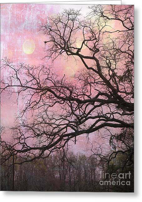 Surreal Pink Nature Prints By Kathy Fornal Greeting Cards - Surreal Gothic Fantasy Abstract Pink Nature - Fantasy Surreal Trees Nature Photograph Greeting Card by Kathy Fornal