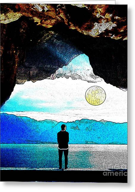 Surreal Landscape Greeting Cards - Surreal landscape Greeting Card by Celestial Images