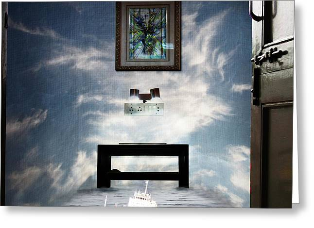 Surreal Living Room Greeting Card by Laxmikant Chaware