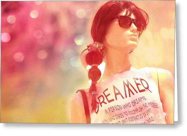 Fashion Photo Prints Greeting Cards - Surreal Mannequin Art - Female Mannequin Fashion Art - Dreamer Fashion Art Photo Greeting Card by Kathy Fornal
